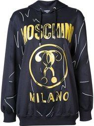 толстовка с капюшоном и логотипом Moschino