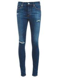 джинсы скинни с рваными деталями Ag Jeans