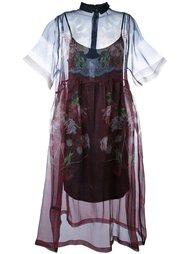 прозрачное платье с цветочным принтом Mother Of Pearl