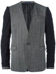 пиджак без воротника с эффектом вывернутого наизнанку Lanvin