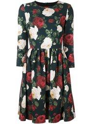 расклешенное платье с цветочным принтом   Blugirl