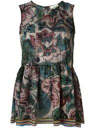 платье с цветочным принтом   Erika Cavallini
