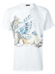 футболка с принтом льва Etro