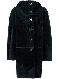пальто из овчины с капюшоном Sylvie Schimmel