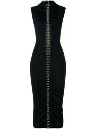 платье с застежкой на крючки Balmain