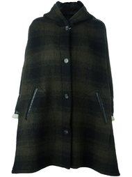 пальто в клетку с капюшоном Mm6 Maison Margiela