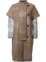 однобортное пальто Kolor