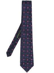 галстук с цветочной вышивкой Etro