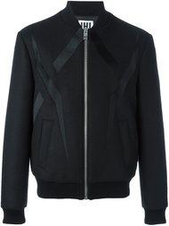 куртка-бомбер с контрастными деталями Les Hommes Urban