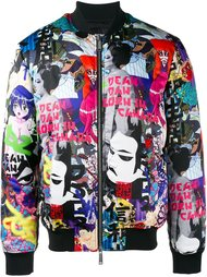 куртка-бомбер с принтом Manga Dsquared2