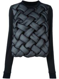 свитер с плетеным эффектом Comme Des Garçons Noir Kei Ninomiya