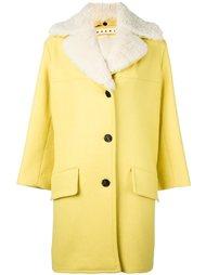 пальто с отделкой из овчины Marni