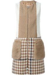 лоскутное пальто-дубленка без рукавов Drome