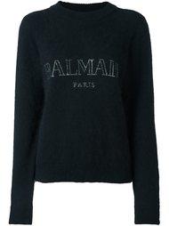 свитер с вышитым логотипом Balmain