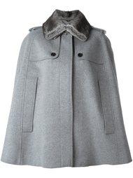 накидка-пальто с меховым воротником Burberry London