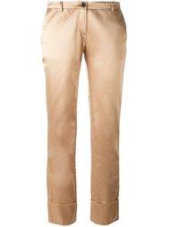 брюки с подвернутыми манжетами  Romeo Gigli Vintage