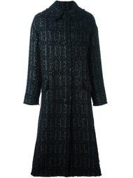 длинное твидовое пальто Simone Rocha