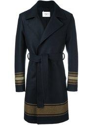 пальто в полоску с поясом Ports 1961
