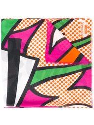 шарф с принтом логотипа  Moschino