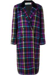 пальто в клетку  Christian Dior Vintage