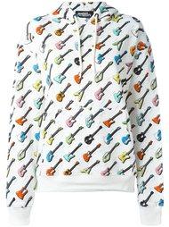 толстовка с капюшоном и узором в виде гитар Jeremy Scott