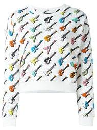 толстовка с узором в виде гитар Jeremy Scott