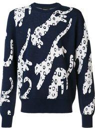 свитер с принтом леопардов Christopher Raeburn