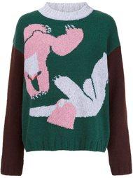 свитер с абстрактным принтом  Minjukim