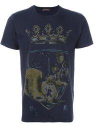 футболка с принтом короны Etro