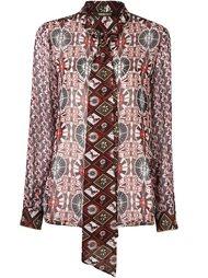 блузка с узором Roberto Cavalli