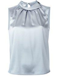блузка с драпировкой без рукавов Armani Collezioni