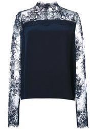 блузка с кружевными панелями Monique Lhuillier