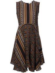 платье с абстрактным принтом  A.L.C.