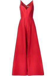 приталенное вечернее платье Halston Heritage