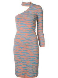 платье с зебровым принтом Jeremy Scott