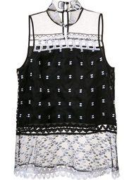 блузка с прозрачными панелями Jonathan Simkhai