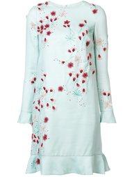 платье с цветочной аппликацией  Monique Lhuillier