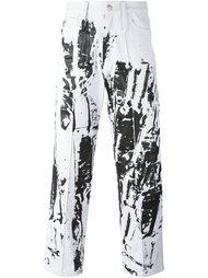 джинсы с абстрактным принтом Liam Hodges