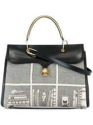сумка-тоут с сетчатым принтом Olympia Le-Tan