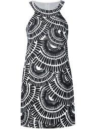 платье с абстрактным принтом  Trina Turk