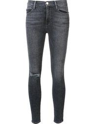 джинсы кроя скинни с потертой отделкой Frame Denim