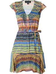 расклешенное платье c V-образным вырезом  Saloni