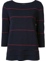 свитер в полоску Lafayette 148