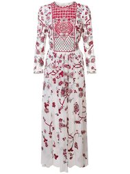 платье миди с вышивкой Monique Lhuillier