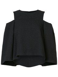 блузка с открытыми плечами Monique Lhuillier