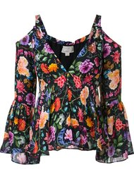 блузка с цветочным принтом  Nicole Miller
