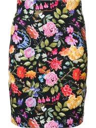 юбка с цветочной вышивкой  Nicole Miller