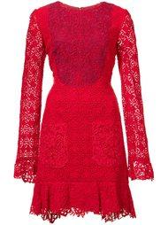 платье с панельным дизайном  Monique Lhuillier