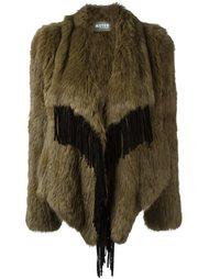 пальто с бахромой и эффектом драпировки Meteo By Yves Salomon