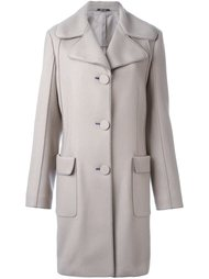 пальто с контрастной строчкой Maison Margiela